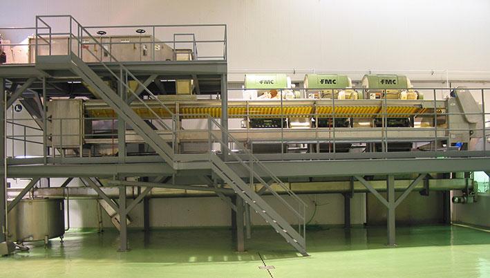 Planta de elaboración de zumo y manipulación de cítricos